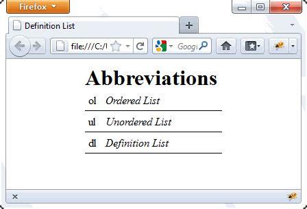 Changing Styles Tutorial Webucator - definition lists tutorial webucator