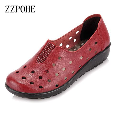 comfortable shoes for elderly zzpohe summer mother sandals slope comfortable soft soled