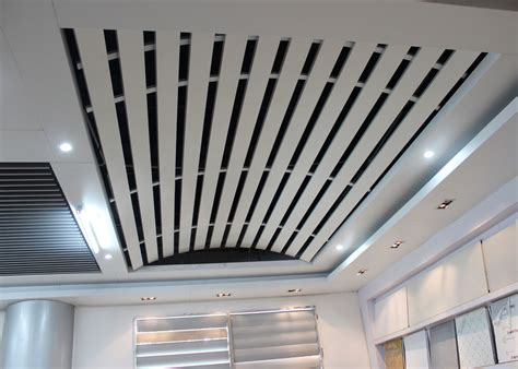 Linear Metal Ceiling domed linear metal ceiling aluminum install with curved