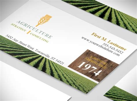 agriculture business card templates free farming agricultural company business card template
