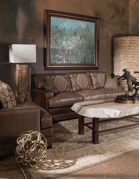 western couches living room furniture shop the look rustic western oasis living room rustic