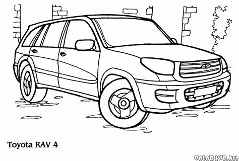 Page Toyota Coloring Page Toyota Rav4