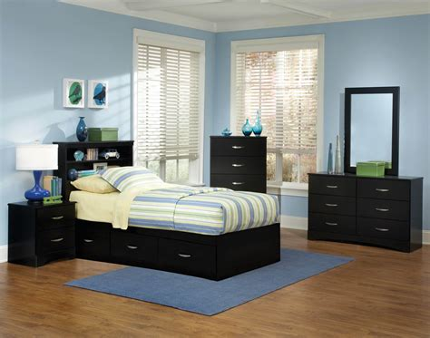 Twin Bedroom Furniture Set | jacob twin black storage bedroom set kids bedroom sets