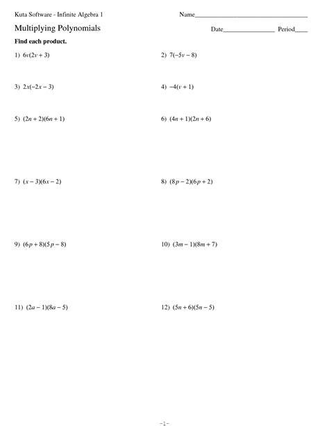 Multiplying Polynomials Worksheet Answers by Worksheets Multiply Binomials Worksheet Opossumsoft
