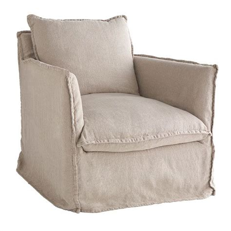 slipcovered arm chair wisteria furniture chairs natural linen coverall arm