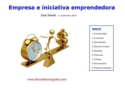 Ebooks 57936 Empresa E Iniciativa Emprendedora by Calam 233 O Empresa E Iniciativa Emprenedora