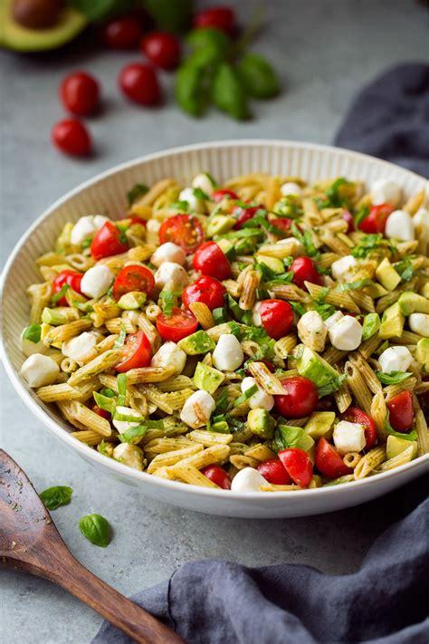 avocado caprese pasta salad cooking classy