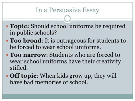 Persuasive Essay On Wearing School Uniforms by Should Students Wear School Uniforms Persuasive Essay Docoments Ojazlink