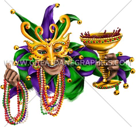 Ready Acm Mask Transparent mardi gras jester production ready artwork for t shirt printing