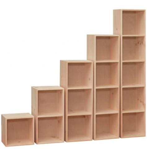 Pine Bookcases Unfinished 14 Inch Cubes Amp Cubbies Wood You Furniture