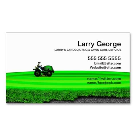 lawn care landscaping service business card lawn care