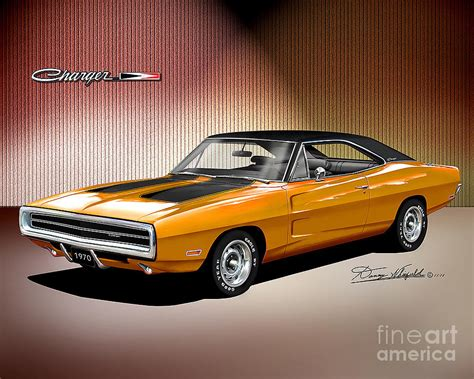 1970 dodge charger drawing 1970 dodge charger drawing by danny whitfield