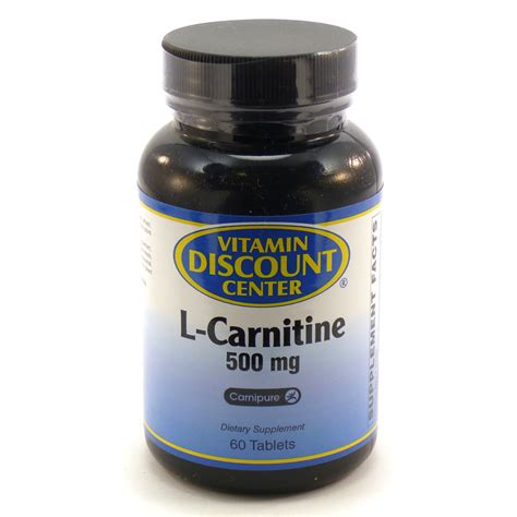 Vitamin L L Carnitine 500 Mg By Vitamin Discount Center 60 Tablets