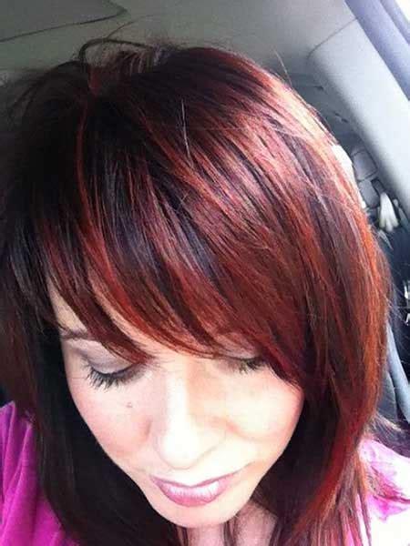 hairstyles auburn highlights bob hairstyles with auburn highlights styles 2017