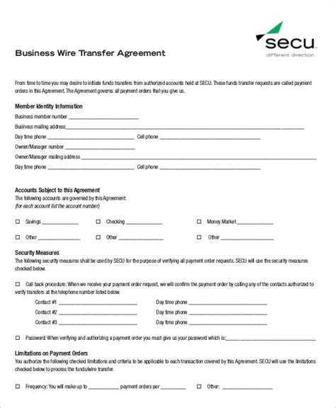 sle business transfer agreement 6 exles in word pdf