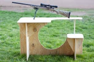 diy portable shooting bench plans pdf download knock down