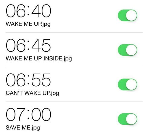 Iphone Alarm Meme - alarm wake me up inside can t wake up know your meme