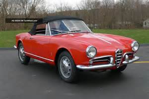 Alfa Romeo 1960 1960 Alfa Romeo Giulietta Spider