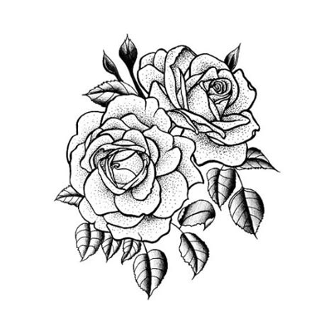 rose temporary tattoo set of 2 flash boards old