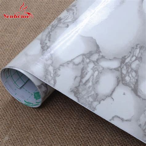 Wallpaper Sticker 5 Meter 2 5m vinyl marble waterproof self adhesive wallpaper roll home decor wall stickers for bath