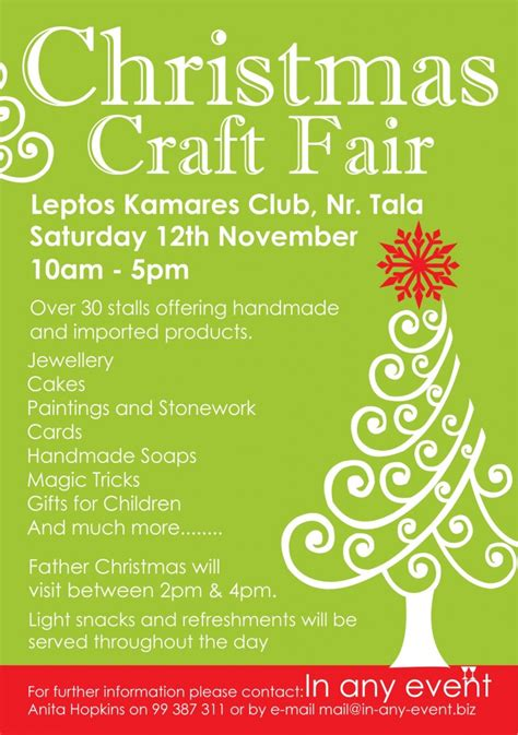 christmas craft fair leaflet