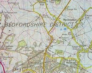 map of bedford domesday reloaded the bedford area