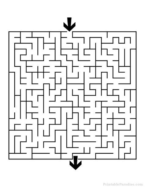 printable maze to print printable square maze medium difficulty printable