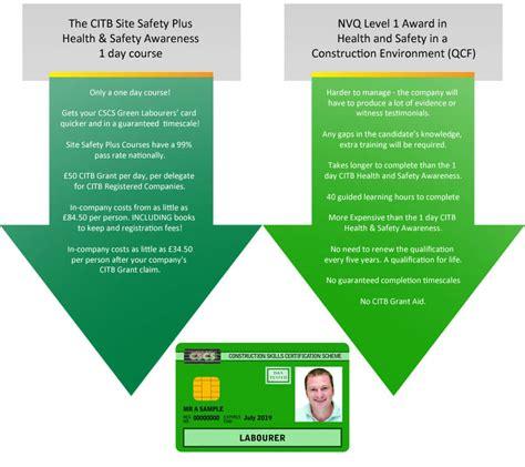 card courses cscs green cards citrus