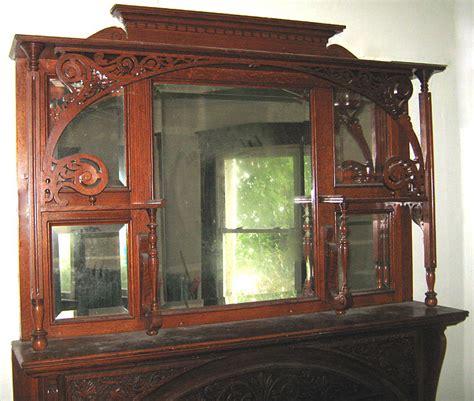 fireplace mantel mantelpiece oak antique for