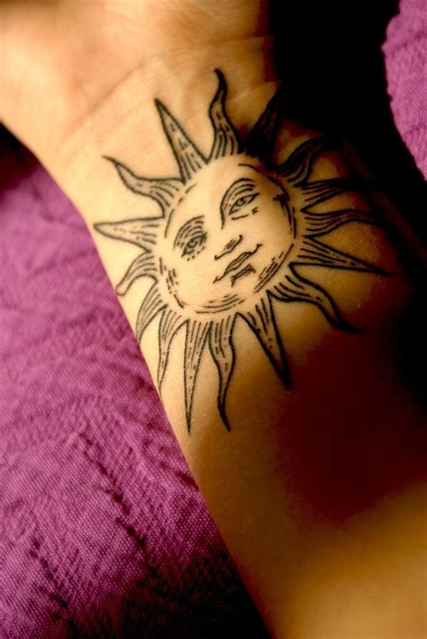 sun tattoo sun and moon tattoos for moon and tatting