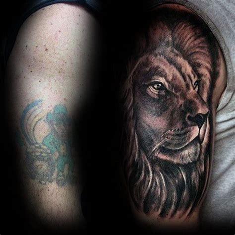 lion tattoo ideas cover up design idea for 60 cover up ideas for before and after designs