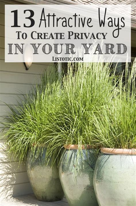 How To Plant A Garden In Your Backyard by 13 Attractive Ways To Add Privacy To Your Yard Deck