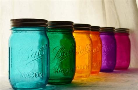 colored canning jars multi colored jars bottles jars