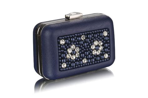 navy beaded clutch wholesale navy beaded box clutch bag with decoration