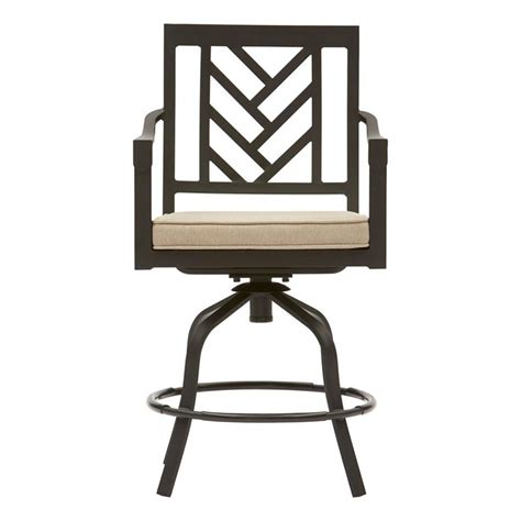 allen roth northvale set   aluminum dining chair  beige cushion  lowescom
