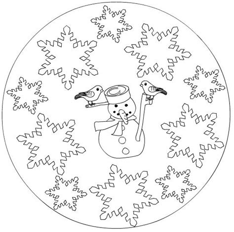 snowflake mandala coloring pages crafts actvities and worksheets for preschool toddler and