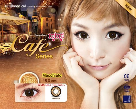 Softlens Geo Princess Mimi Cafe Cappucino Wmm 700 discount geo cafe mimi circle lens series us 19 90