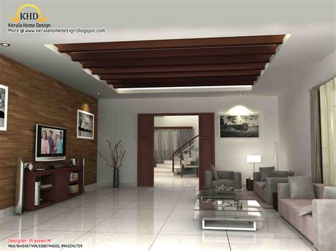 interior design for house 3d rendering concept of interior designs kerala home