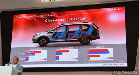 honda br   seater space comparison interior revealed  presentatio