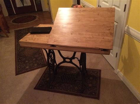 drafting table with storage unit