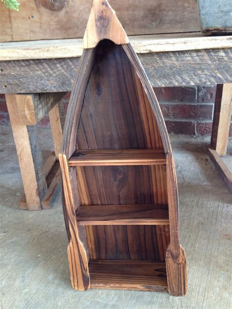 tall boat shelf wood americana boat shelf nautical decor wall shelf 22