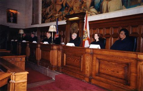 Supreme Court Room by Florida Memory View Showing Florida Supreme Court