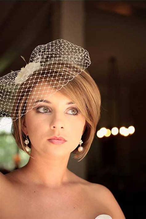 bob hairstyles with veil 20 new wedding styles for short hair hairstyles
