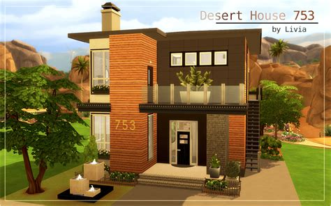 Two Story Mobile Home Floor Plans by Contemporary Desert House Sims 4 Houses