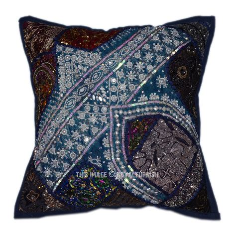 beaded decorative pillows 40 quot x40 quot pink decorative accent square beaded indian