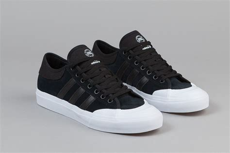 adidas skateboarding ss17 available in store on march adidas skateboarding matchcourt low black white sneaker