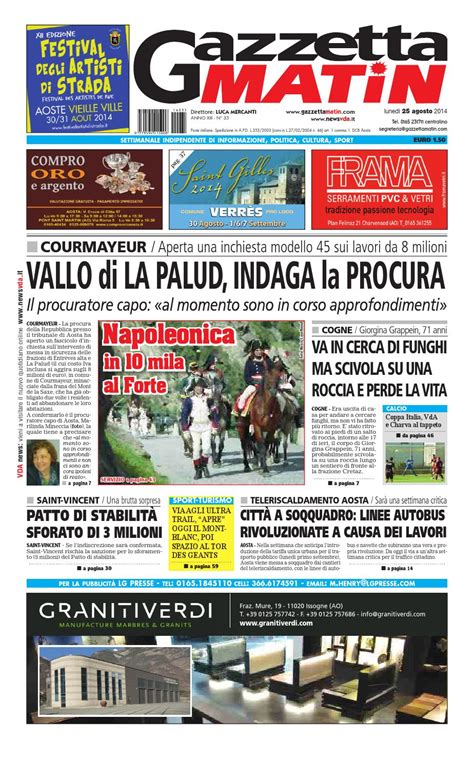 New House Plans issuu gazzetta matin del 25 agosto 2014 by luca mercanti