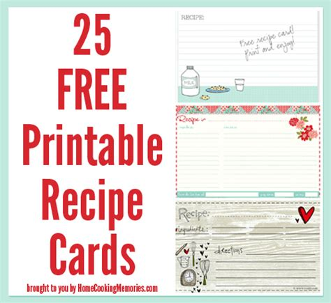 free drink recipe card template 25 free printable recipe cards home cooking memories