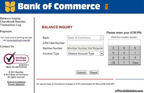 commerce bank card login bank of commerce atm card balance inquiry banking