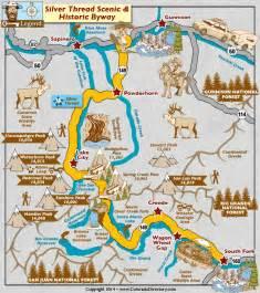 colorado springs attractions map silver thread scenic byway map colorado vacation directory